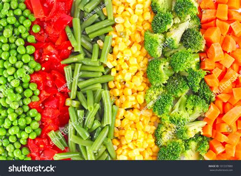 wallpaper frozen vegetables mixed vegetables background stock photo 101337880