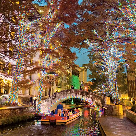 holiday lights on the riverwalk san antonio the twinkliest drive in texas southern living