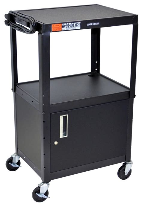 utility cabinet on wheels this av cart with utility cabinet is ideal for any