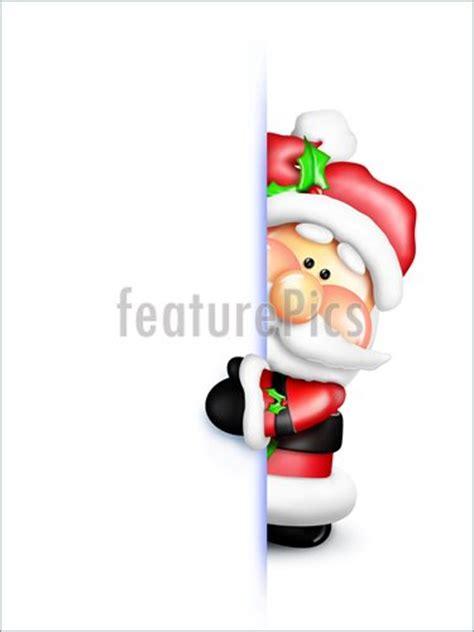 gumdrop cartoon santa peeking  picture