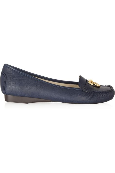 michael kors womens loafers michael michael kors hamilton leather loafers in blue
