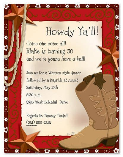 free western invitation templates western stationery west boot for the home