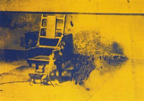 sedia elettrica andy warhol electric chair warhol artnoise