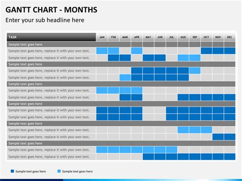 Gantt Chart Powerpoint Template Sketchbubble Gantt Chart For Powerpoint
