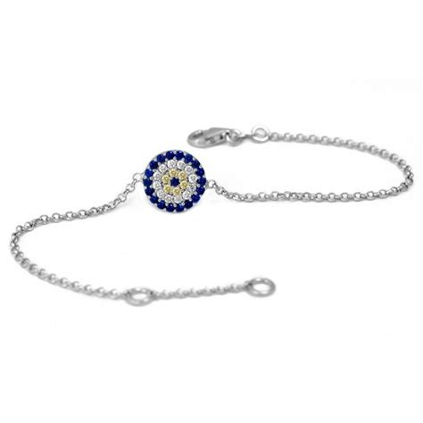925 evil eye bracelet with cubic zircon stones
