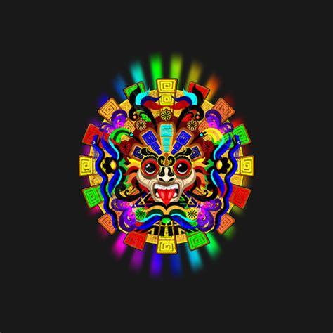 aztec colors aztec warrior mask rainbow colors aztec culture t