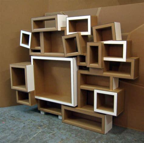 juliadesign: meuble en carton étagère en carton