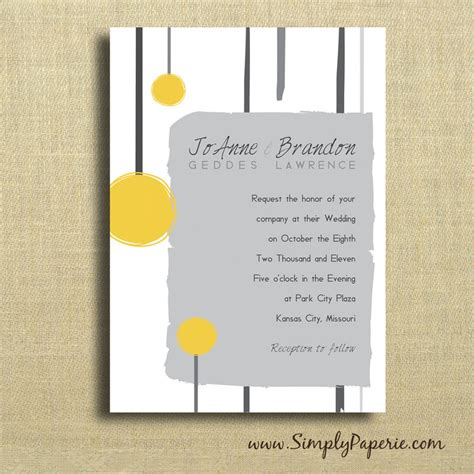 Wedding Invitations Yellow And Grey by Yellow And Grey Sketched Wedding Invitations Simply Paperie