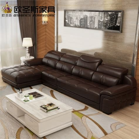 Real Leather Sectional Sofa by Aliexpress Buy New Model L Shaped Modern Italy