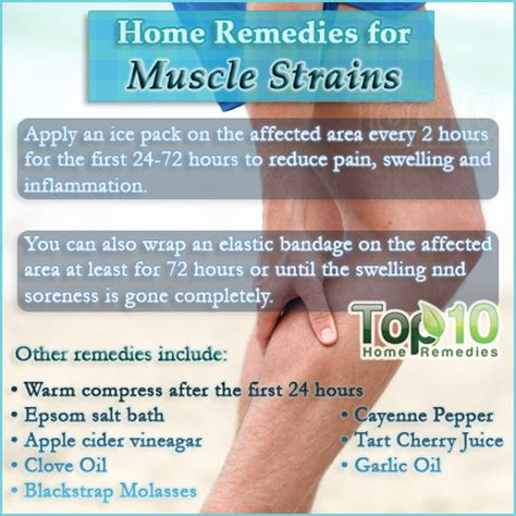 home remedies for a strain top 10 home remedies