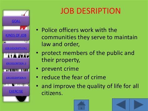 job description slide master
