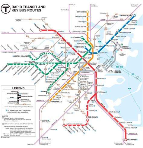 boston mbta map mbta subway quot spider quot maps time