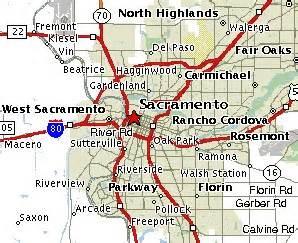 mather california map sacramento maps mileage information