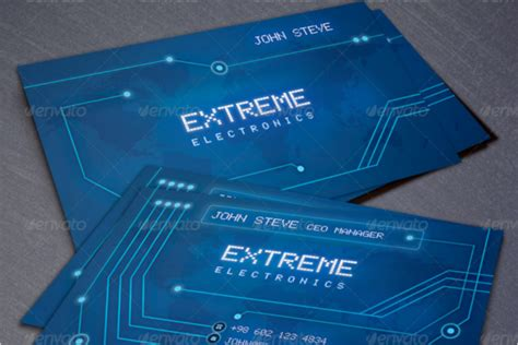electronic business card templates 32 electrical store business cards templates free designs