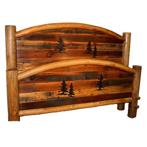 barnwood beds rustic beds queen size barnwood arched bed with tree
