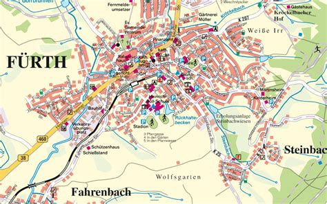 f map f 252 rth city map fuumlrth germany mappery