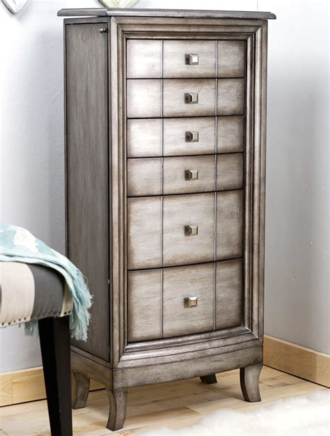 Jewelry Armoire Silver by Natalie Jewelry Armoire Silver Leaf Hives And Honey
