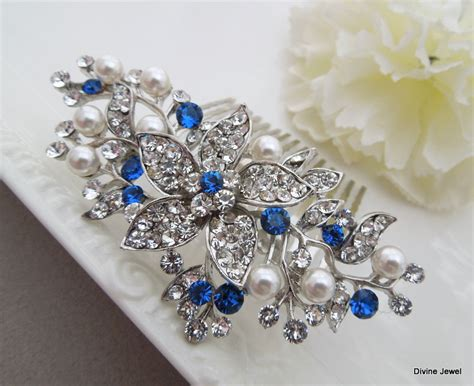 wedding hair accessories blue 11 ideas for something blue chwv