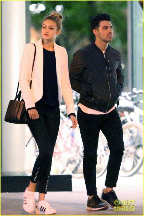 gigi hadid s boyfriend joe jonas photos pics joe jonas gigi hadid spark more romance rumors in