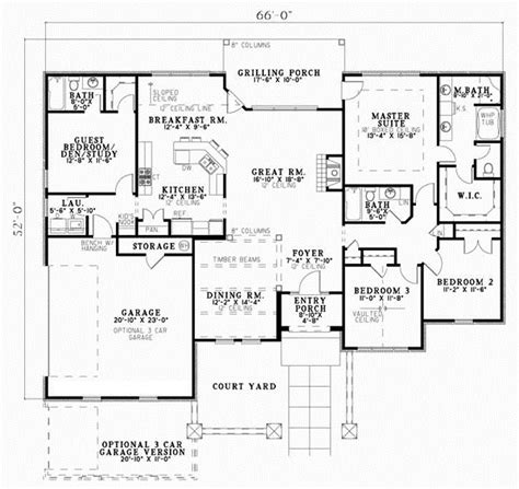 4 bedroom tuscan house plans tuscan style house plans 2075 square foot home 1 story