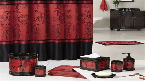 black and red bathroom decor red accessories for bedroom plush design ideas red and