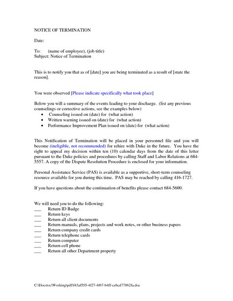 Lease Withdrawal Letter 10 Best Images Of Employment Termination Notice Letter Employment Termination Letter Sle