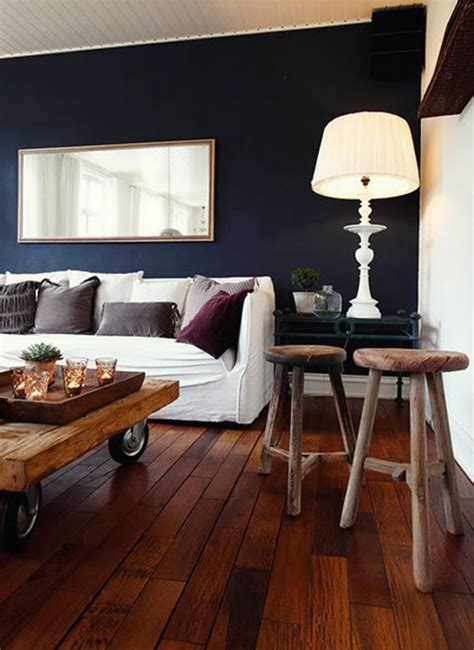 Blue Wall Living Room by Navy Blue Paint Colors Interiors B A S