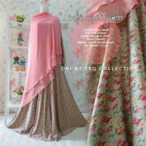 Gamis Jumbo Cantik gamis jumbo indri syar i motif bunga baju muslim jersey