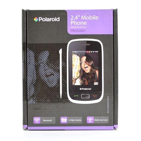 polaroid mobile phones polaroid dual sim 2 4 quot white mobile phone with 1 3 mp