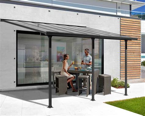 tettoia in alluminio tettoia alluminio per terrazzo tt 3050 al decogiardino