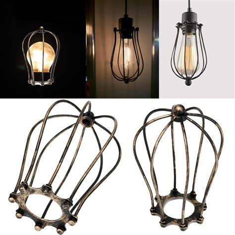 Home Decor Canada Online vintage iron wire bulb cage lamp guard shade trouble