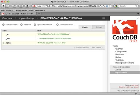 couch database couch db tutorial 28 images getting started with