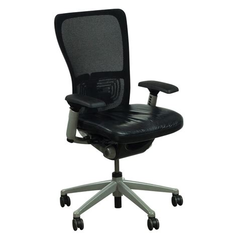 zody task chair warranty haworth zody mesh back leather seat used task chair black