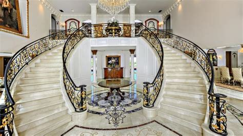 Big Bathrooms Ideas traditional staircase with high ceiling amp double staircase