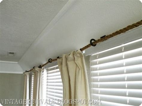 rope curtain rod rope curtain rod tutorial home sweet home pinterest