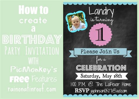 design an invitation how to create an invitation in picmonkey