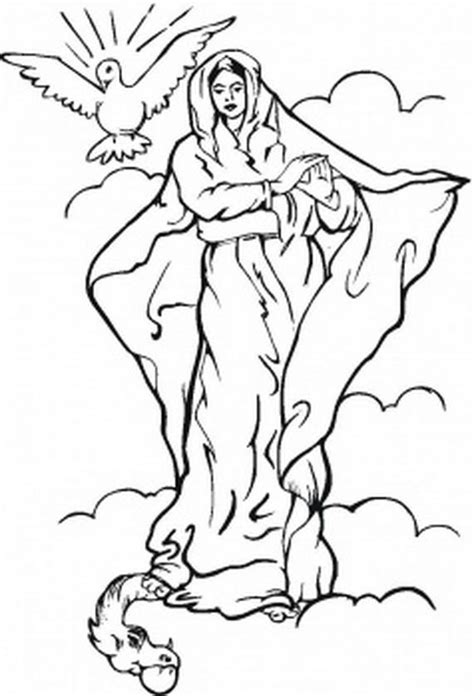 coloring page of virgin mary free the blessed virgin mary coloring pages