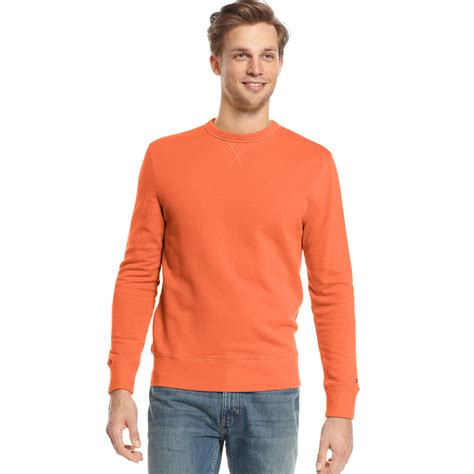 Hilfiger Crewneck hilfiger crewneck sweater in orange for badlands orange lyst