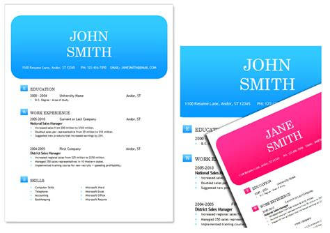 resume ms word template 50 free microsoft word resume templates for download