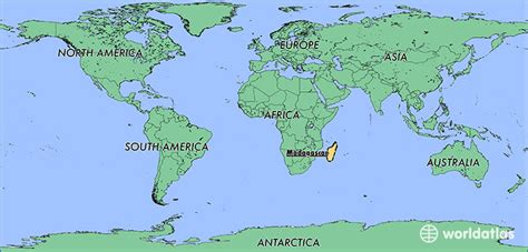 world map of madagascar where is madagascar where is madagascar located in the