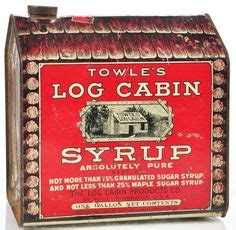 images  log cabin love  pinterest log cabins syrup  tins