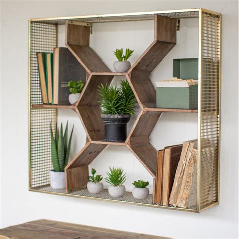 honeycomb wall shelf cmx