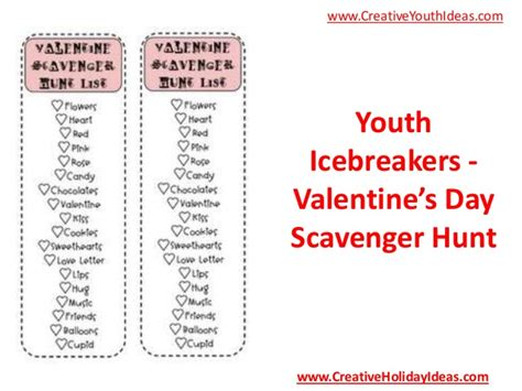 valentines day scavenger hunt clues youth icebreakers valentine s day scavenger hunt
