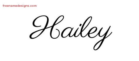 classic name tattoo designs hailey graphic download free