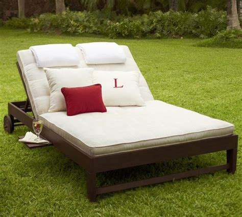 double chaise lounge outdoor furniture chesapeake double chaise and cushion traditional