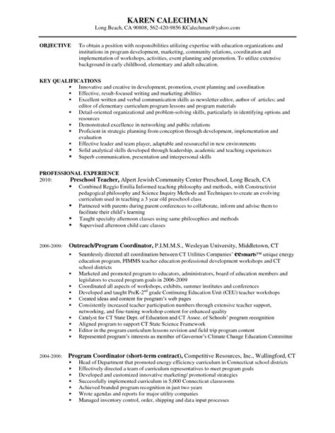 career objective for early childhood education early childhood education resume resume ideas