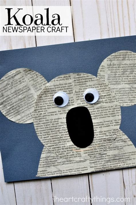 koala craft for newspaper koala craft koala craft animal crafts