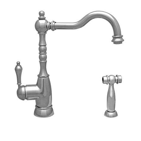 Whitehaus Kitchen Faucet Whitehaus Collection Englishhaus Single Handle Standard Kitchen Faucet With Side Spray In