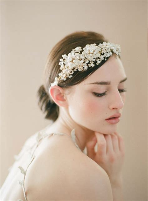 Wedding Hairstyles Hair Pieces by Bridal Hairstyles With Pearly Hair Pieces Sortashion