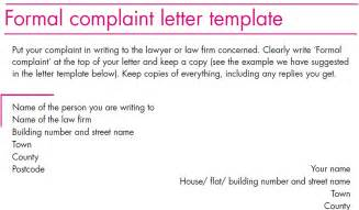 formal complaint letter to landlord template complaint letter template formal complaint letter template